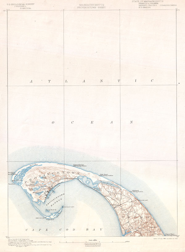 Massachusetts Provincetown Sheet. - Main View