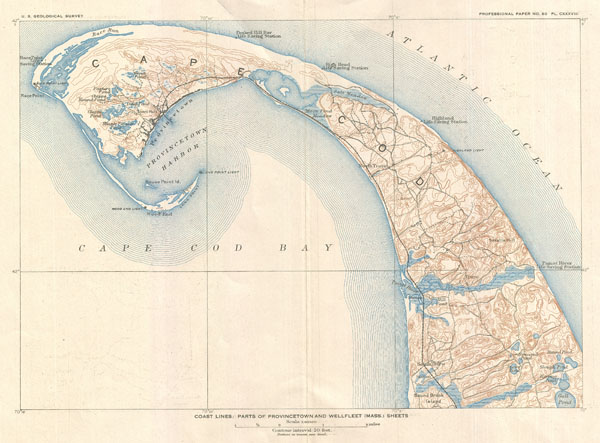 Coast Lines: Parts of Provincetown and Wellfleet (Mass.) Sheets. - Main View