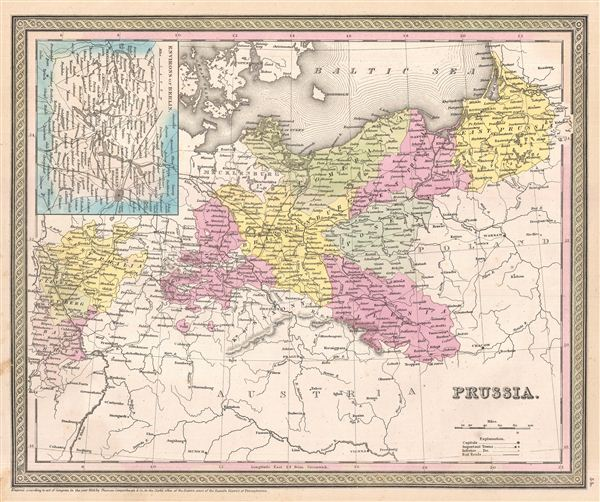 1854 Mitchell Map of Prussia