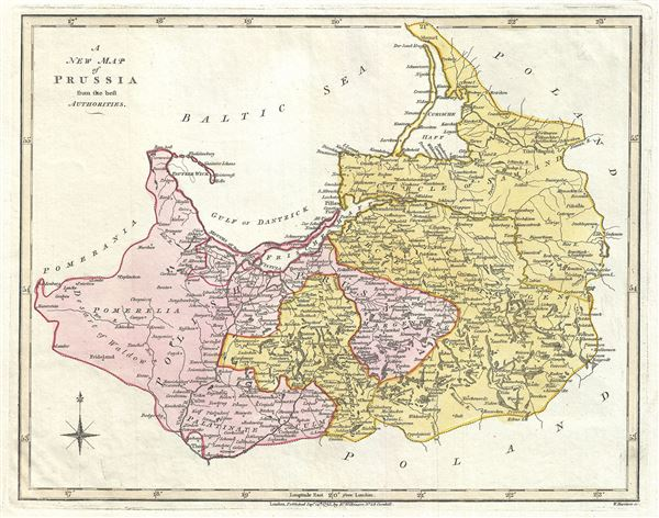 A New Map of Prussia from the best Authorities.
