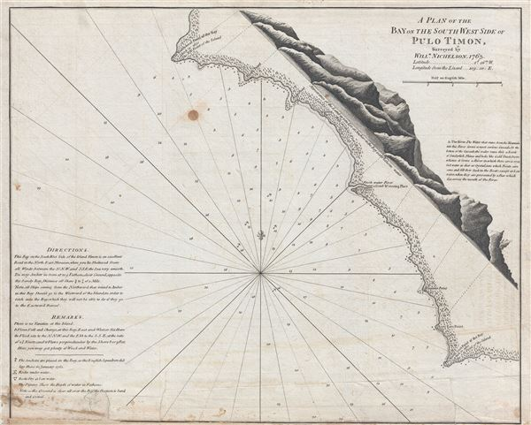 A Plan of the Bay on the South West Side of Pulo Timon.