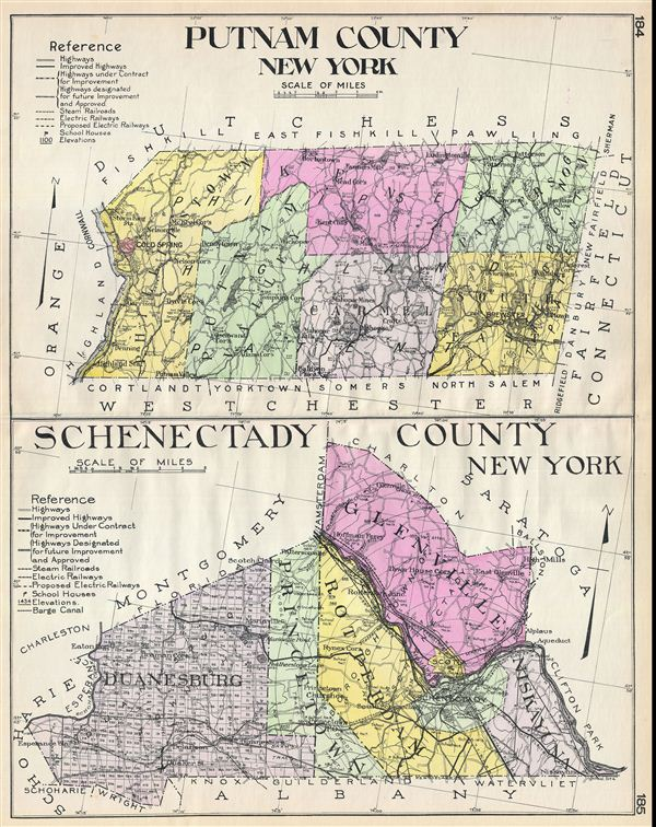 Putnam County New York.  Schenectady County New York.