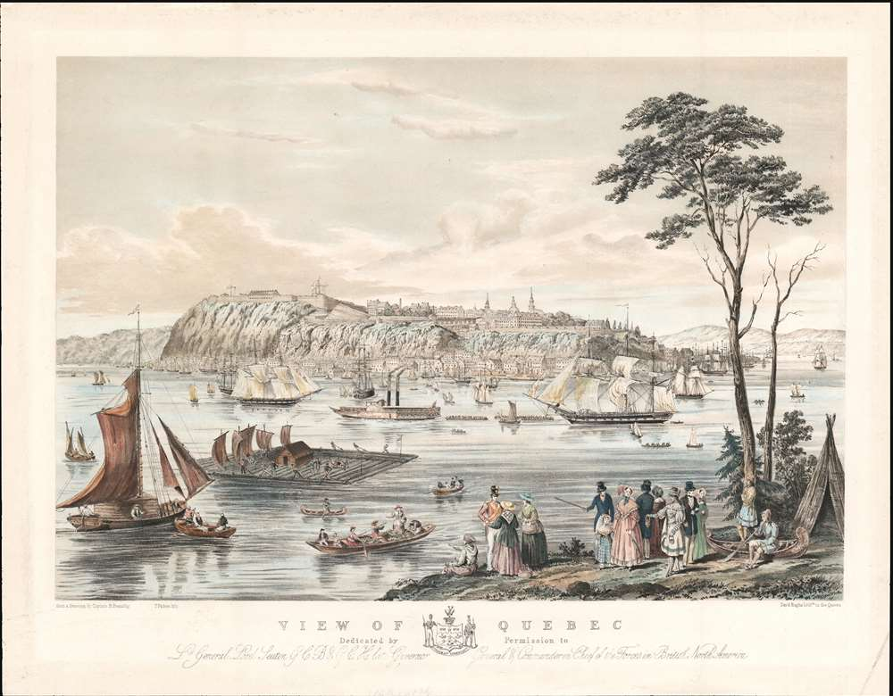 View of Quebec Dedicated by Permission to Lt. General Lord Seaton G. C. B. and G. C. H. Late Governor General and Commander in Chief of the Forces in British North America. - Main View