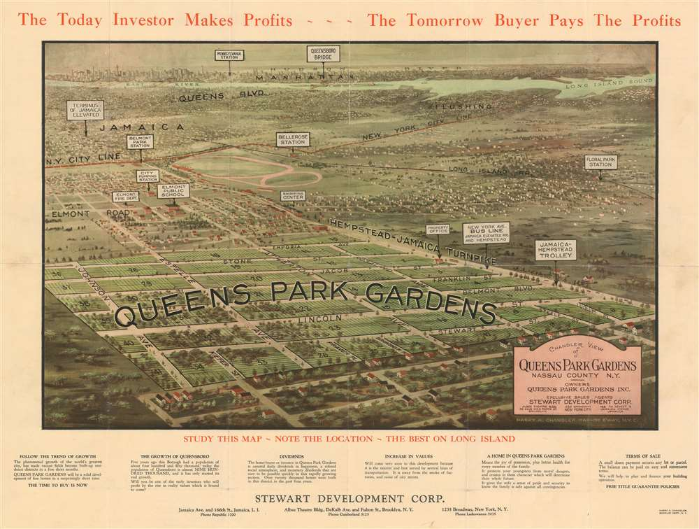 Chandler View of Queens Park Gardens Nassau County N.Y. - Main View