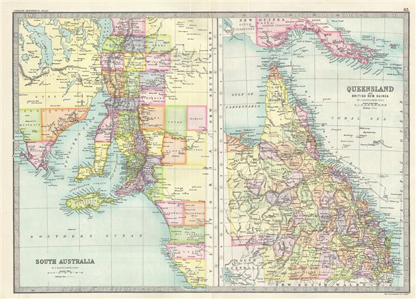 Map Queensland.South Australia Queensland And British New Guinea Geographicus