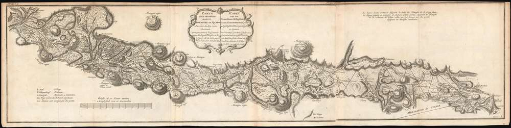 1752 Ulloa and Juan Map of the Andes in Ecuador
