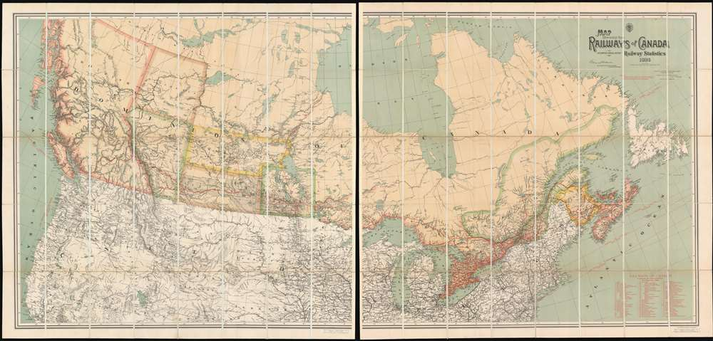 1886 Edmonds 'First Transcontinental Railroad Map' of Canada / Canadian Pacific