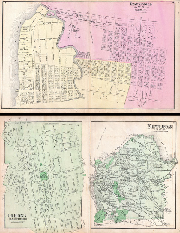 Ravenswood, Part ofLong Island City, Queens, Co. L.I. / Newtown Queens Co. L.I. / Corona or West Flushing, Town of Newtown, Queens Co. - Main View
