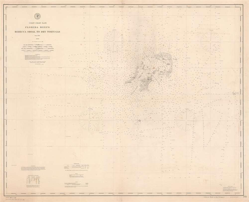 Coast Chart No. 171 Florida Reefs Rebecca Shoal to Dry Tortugas. - Main View
