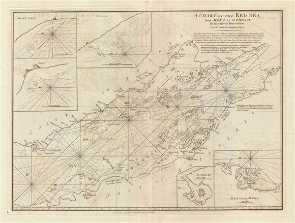 A Chart of the Red Sea from Moka to Geddah. - Main View