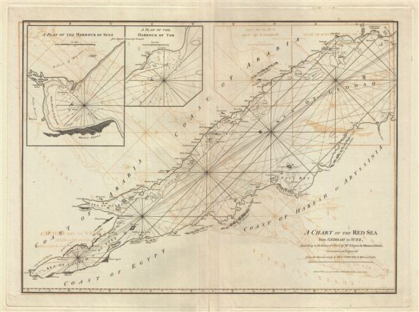 A Chart of the Red Sea from Geddah to Suez. - Main View
