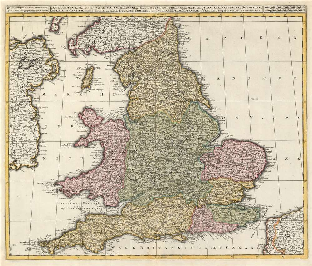 1724 Valk Map of England and Wales