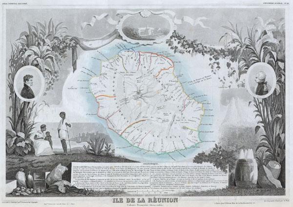 Ile de La Reunion Colonie Francaise (ocean indien)