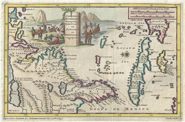 Jonathan Dickensons Ramspoedige Reystogt van Jamaika na Pensylvania nagespoord.