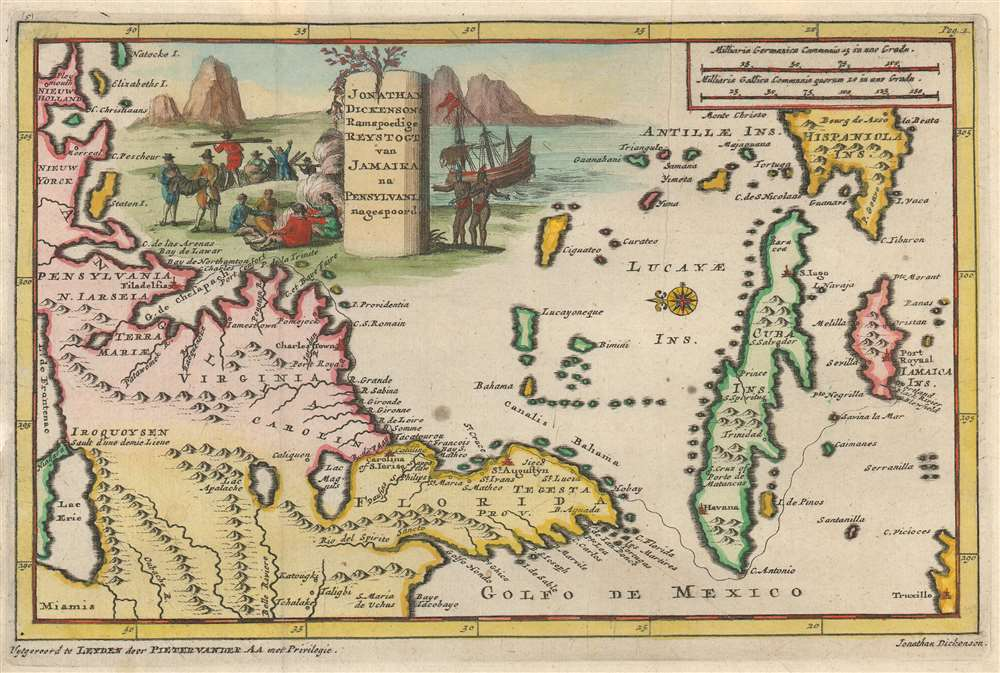 Jonathan Dickensons Ramspoedige Reystogt van Jamaika na Pensylvania nagespoord. - Main View