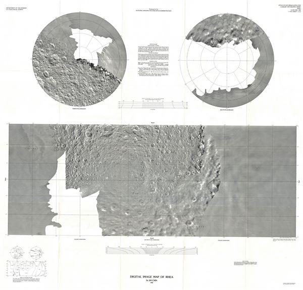 Digital Image Map of Rhea. - Main View