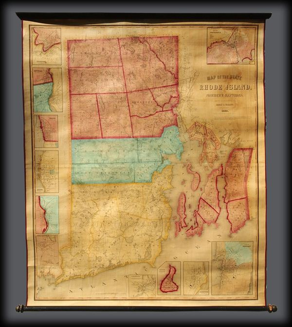 Map of the State of Rhode Island and Providence Plantations.