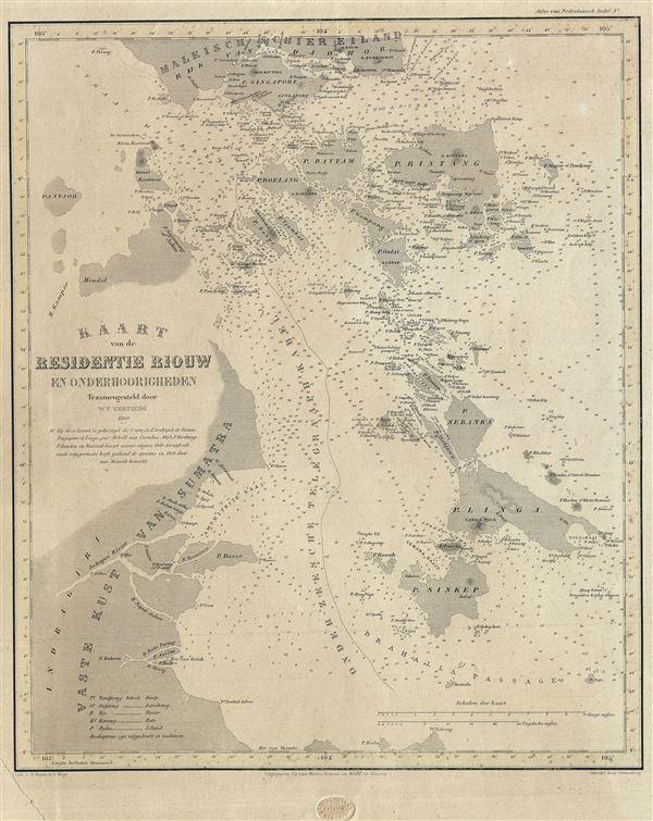 Kaart van de Residentie Riouw en Onderhoorigheden.