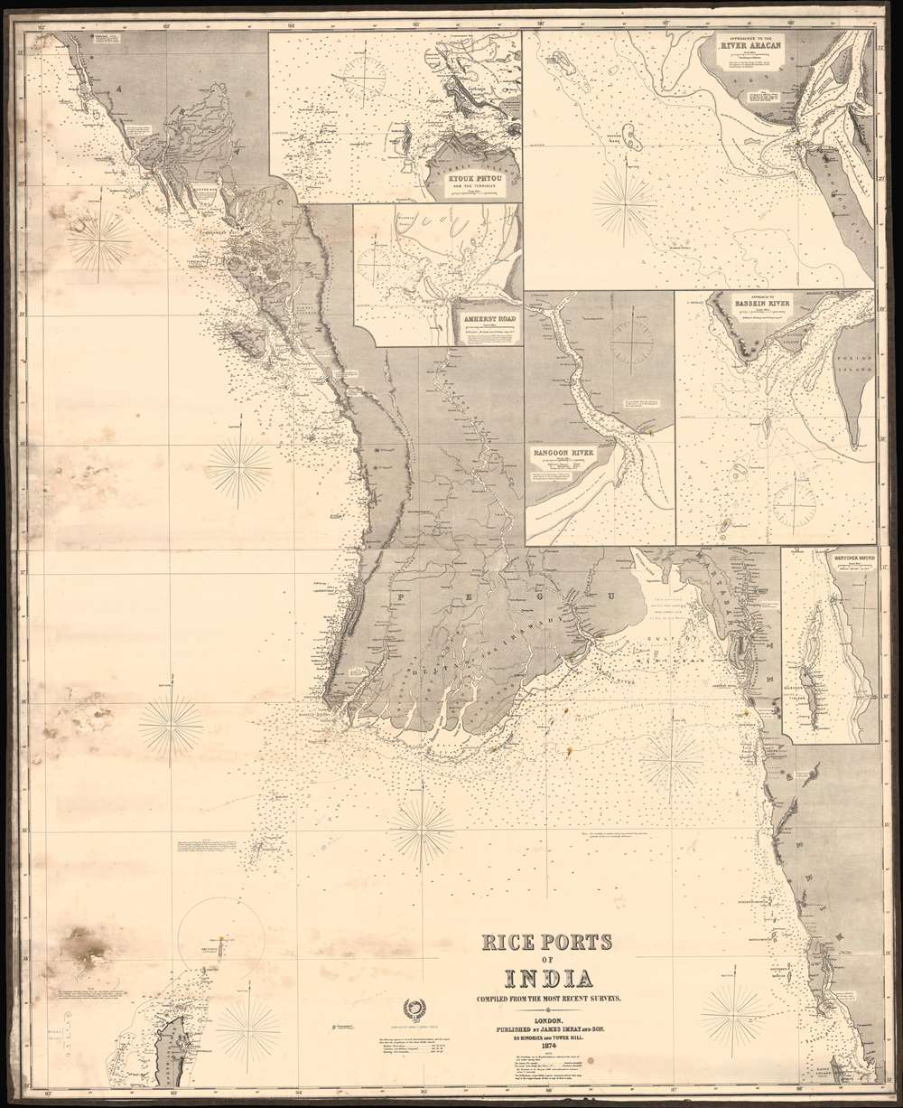 Rice Ports of India compiled from the most recent surveys. - Main View