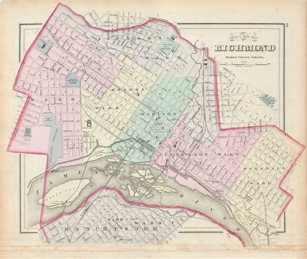 Gray's New Map of Richmond Henrico County, Virginia.