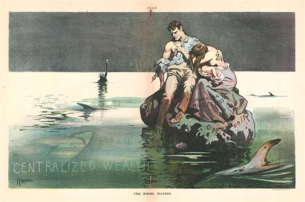 1906 Hassmann Political Cartoon Deriding Economic Inequality