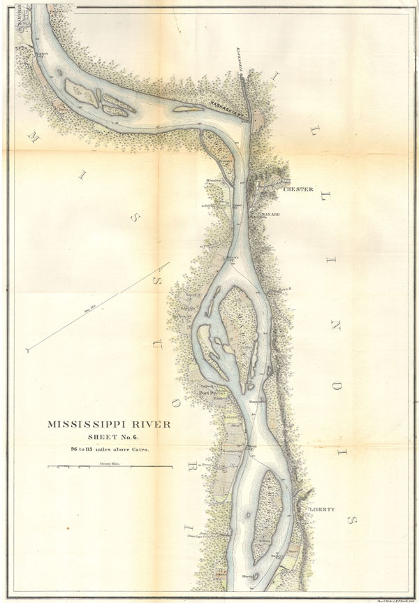 MIssissippi River around Chester, Illinois. - Main View