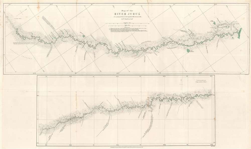 Map of the River Juruá. - Main View