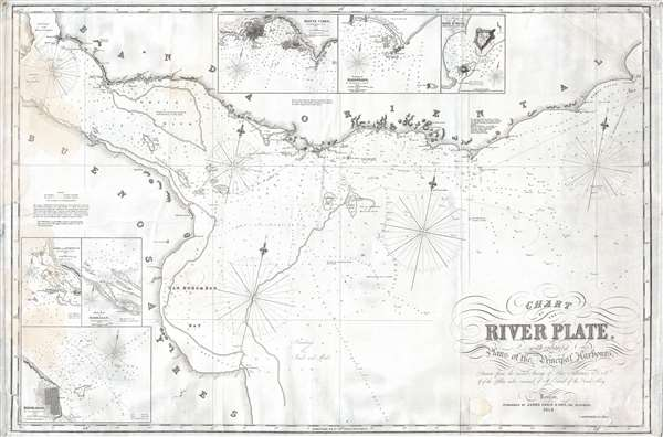 Chart of the River Plate, with Enlarged Plans of the Principal Harbors.
