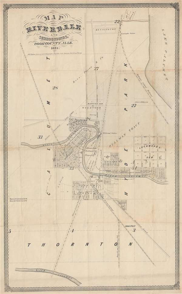 Map of Riverdale and Surroundings, Cook County, Ills.