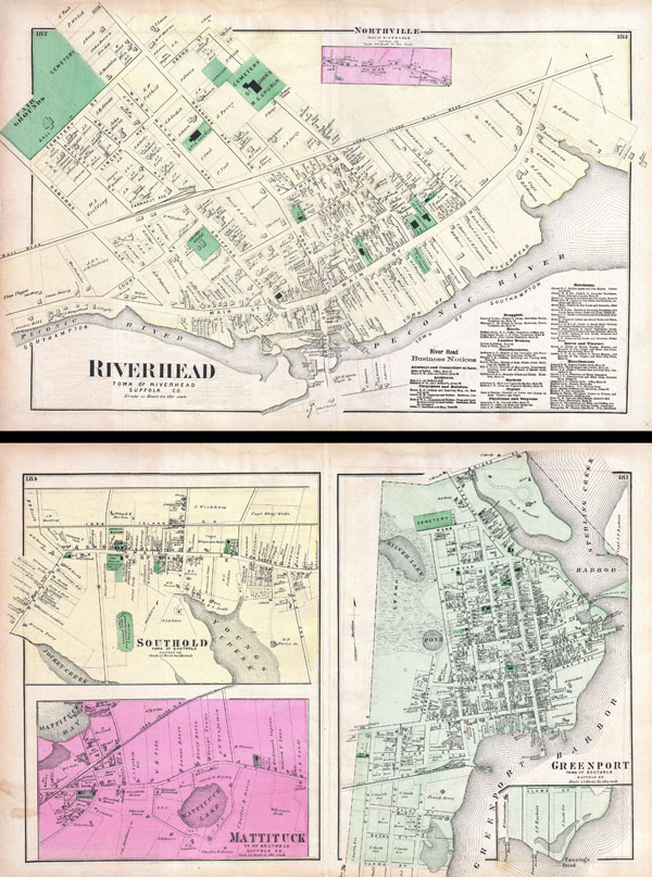 Riverhead, Town of Riverhead, Suffolk Co. / Southold, Town of Southold, Suffolk Co. / Mattituck, Town of Southold, Suffolk Co. / Greenport, Town of Southold, Suffolk Co.