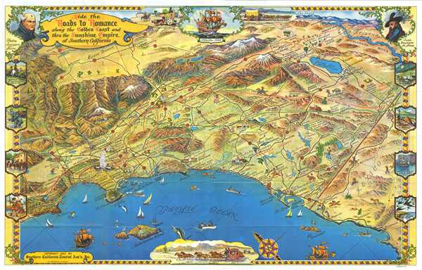 Ride the Roads to Romance along the Golden Coast and thru the Sunshine Empire of Southern California.