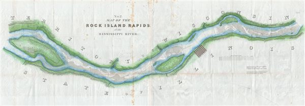 No. 2. Map of the Rick Island Rapids, of the Mississippi River. - Main View