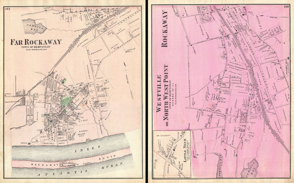Far Rockaway, Town of Hempstead. / Westville or North West Point, Town ofHempstead, Queens Co. L.I. / Rockaway. - Main View