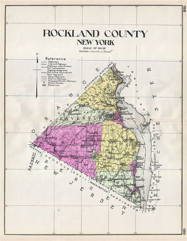 Map Of Cities In Rockland County Ny
