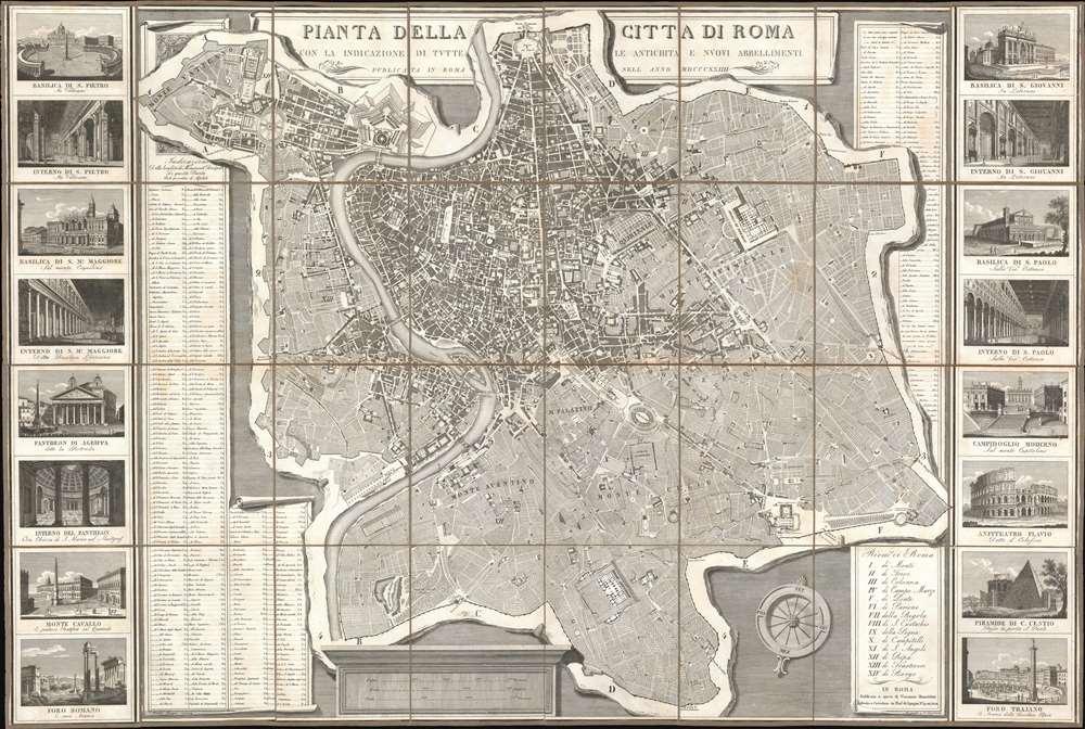 Pianta della Citta di Roma con la Indicazione di Tutte le Antichita e Nuovi Abbellimenti. - Main View