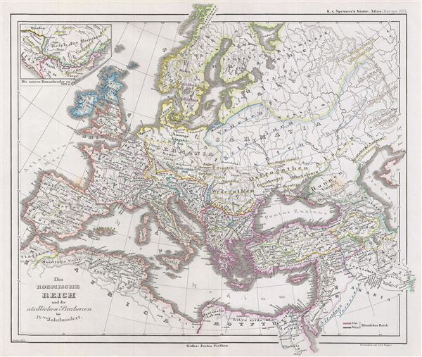 Das Roemische Reich und die noerdlichen Barbaren im IVten Jahrhundert.