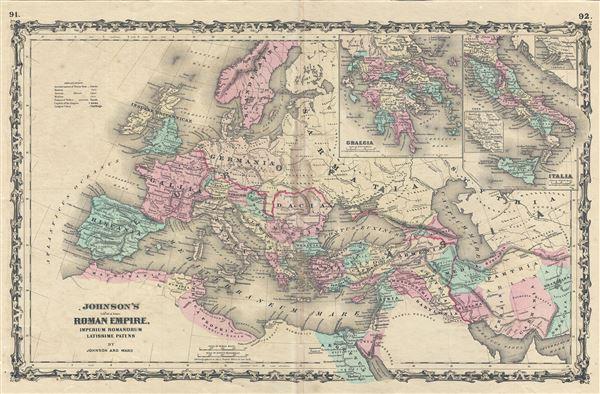 Johnson's Roman Empire, Imperius Romanorum Latissime Patens. - Main View