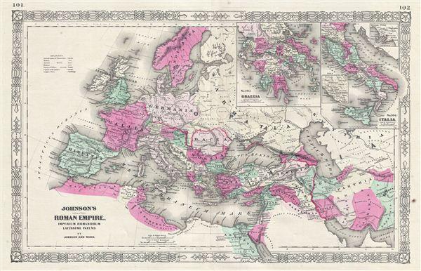 Johnson's Roman Empire, Imperium Romanorum Latissime Patens.