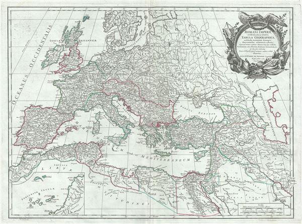 Romani Imperii occidentis scilicet et orientis, Tabula Geographica.