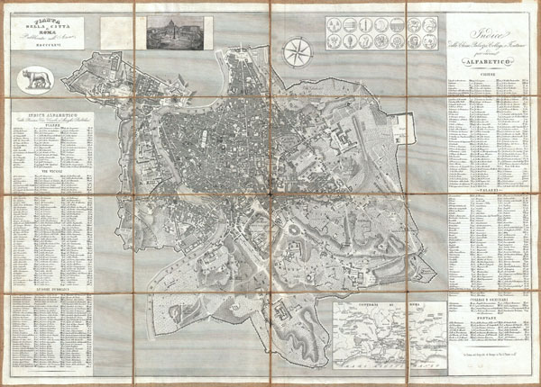 Pianta della citta' di Roma pubblicata nell' anno MDCCCLXVI