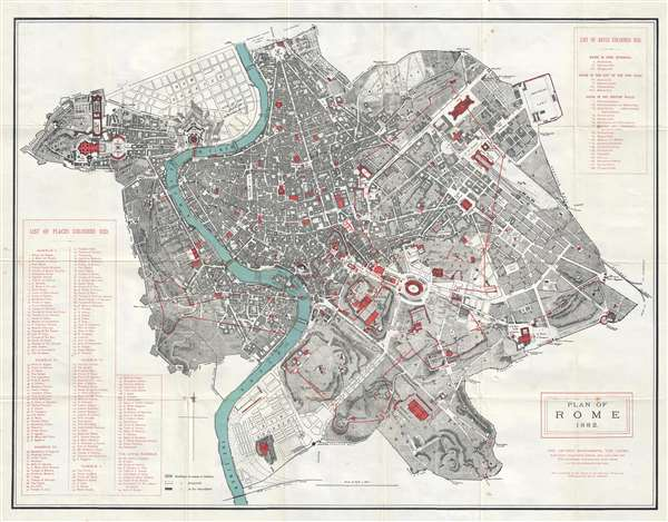 Plan of Rome.: Geographicus Rare Antique Maps