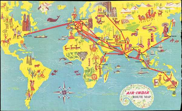 Air India Route Map.