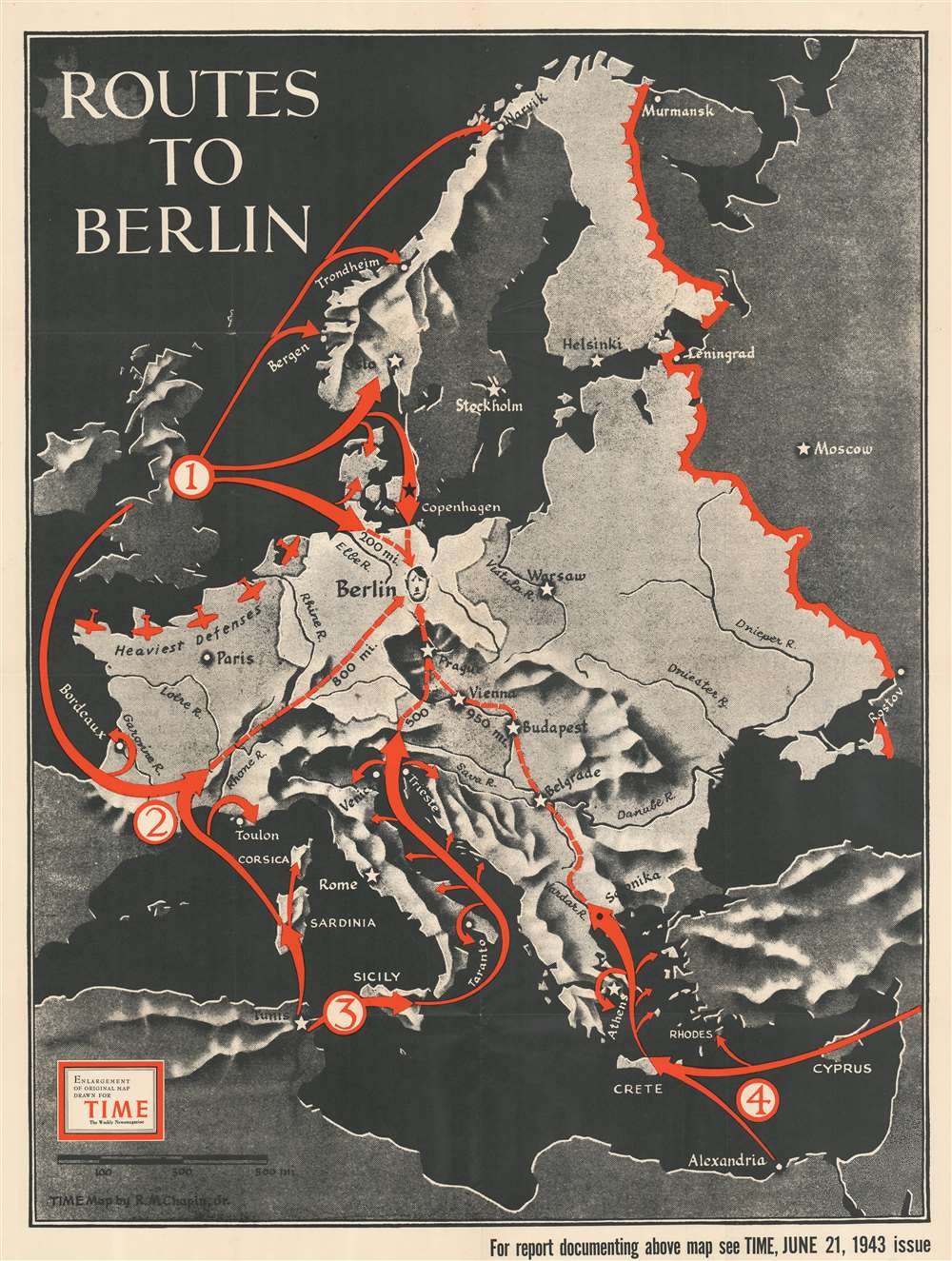 Routes to Berlin. - Main View
