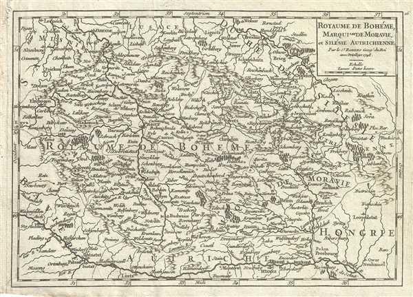 Royaume de Boheme, Marquisat de Moravie, et Silesie Autrichienne.