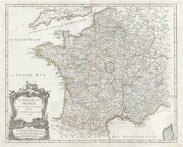 Le Royaume de France divise suivant les Gouvernemens generaux.
