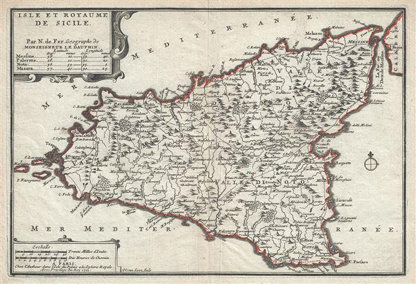 Isle et Royaume de Sicile.
