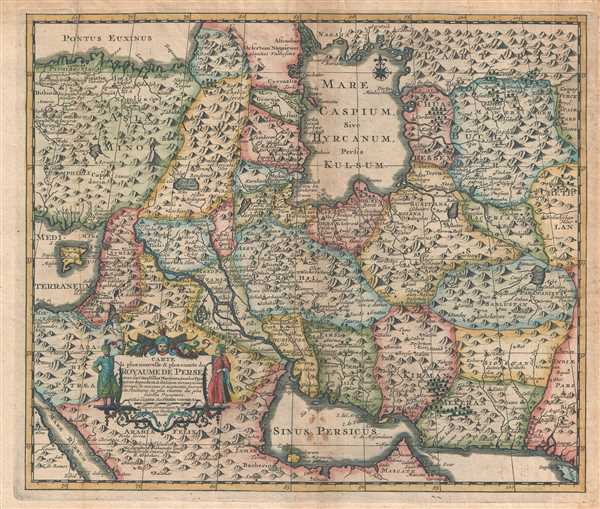 Carte la plus nouvelle et plus-exacte du Royaume de Perse, avec ses Côtes, Villes Maritimes, tous les Pays qui en dependent, et ses Lieux circonvoisins. - Main View