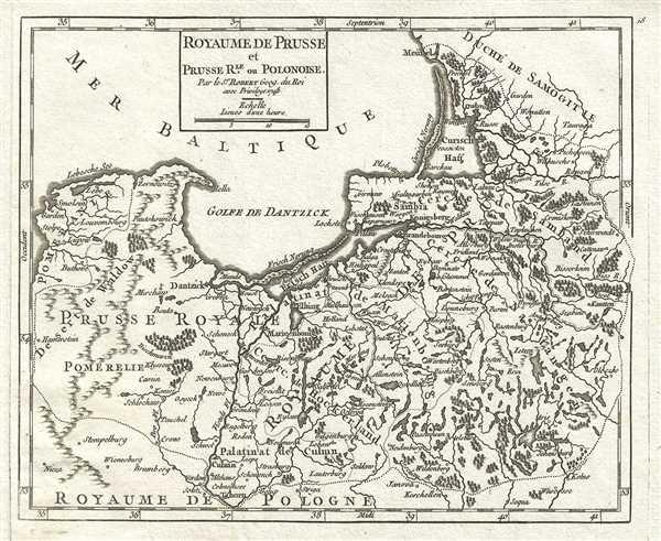 1748 Vaugondy Map of Prussia