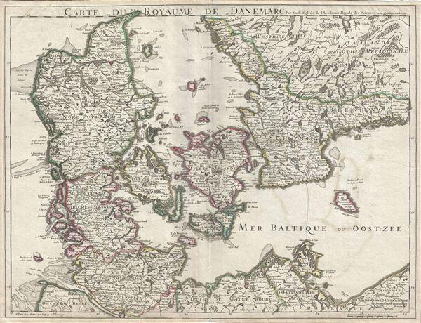 Carte du Royaume de Danemarc. - Main View