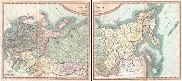 A New Map of the Russian Empire, Divided into its Governments; from the Latest Authorities.